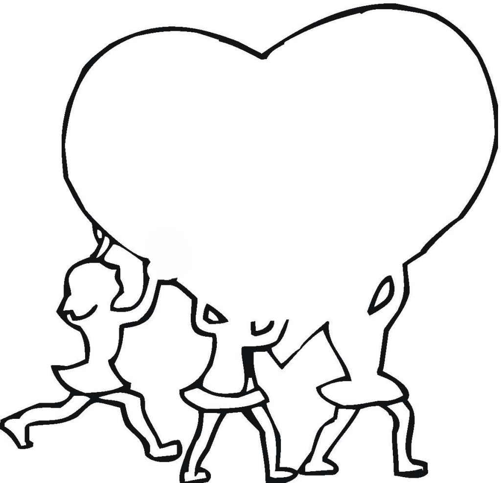Heart Outlines Printable heart outline