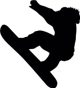 extreme snowboarding clip art