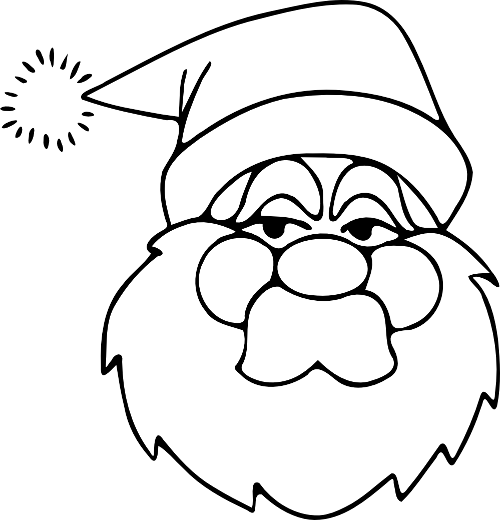 free black and white santa clipart - photo #26
