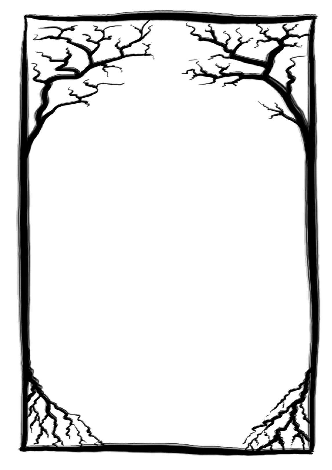 Free Page Borders And Frames on Black Ghost Border