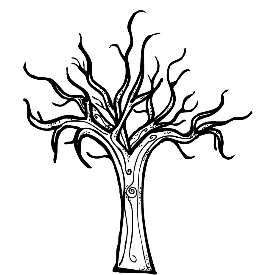 bare tree coloring pages - photo #8