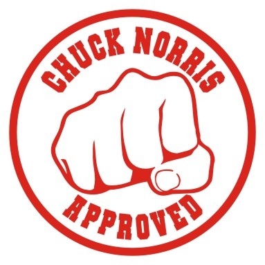 chuck norris approved stamp - photo #4
