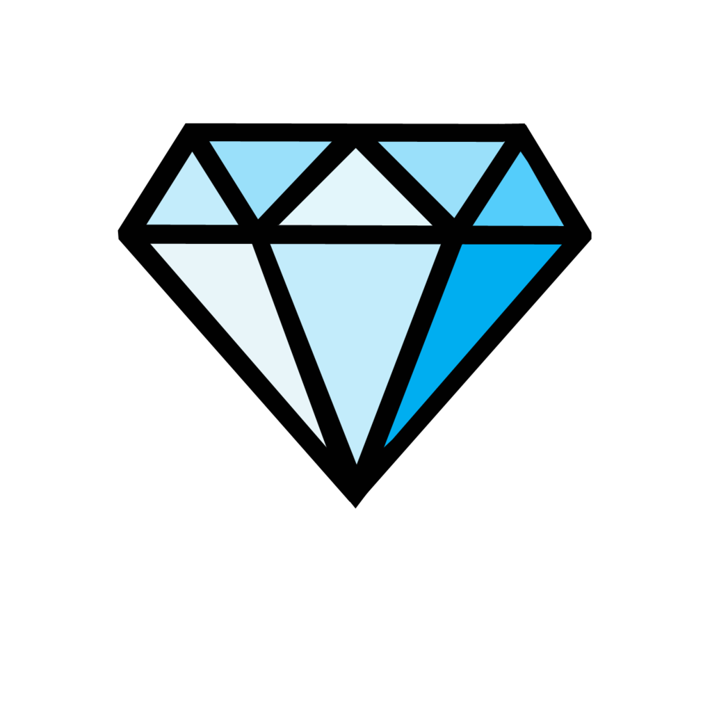 blue cartoon diamonds clipart best