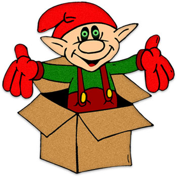 Free Christmas Clipart - Christmas Elf - 350x350 Pixels