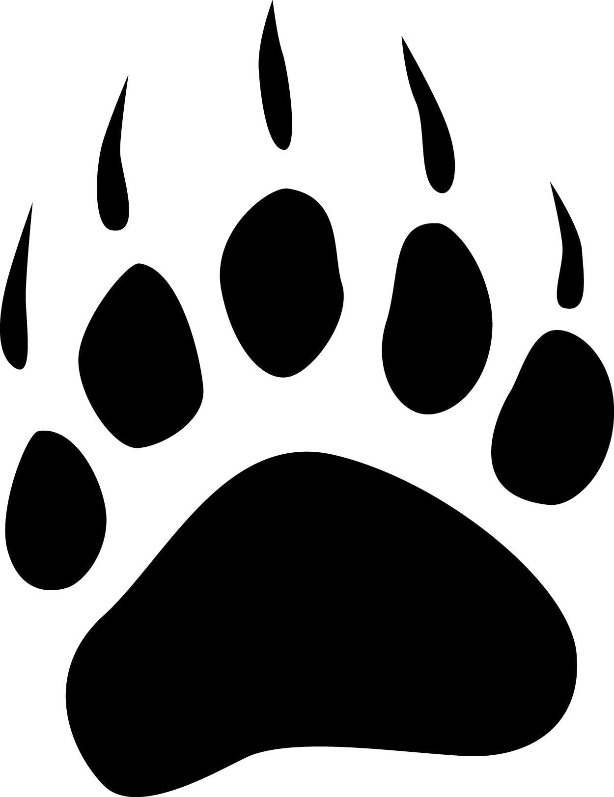 Polar bear paw print clipart best for Bear footprints template
