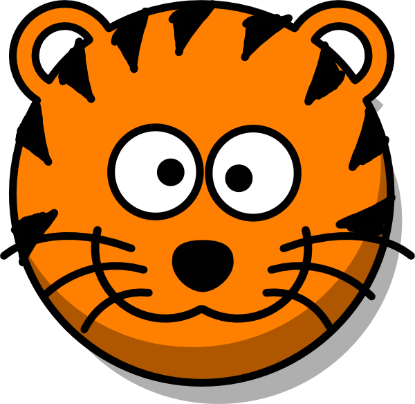 Cartoon baby tiger face