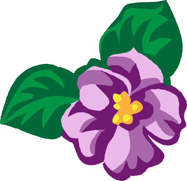 Violet Flower Drawing - ClipArt Best
