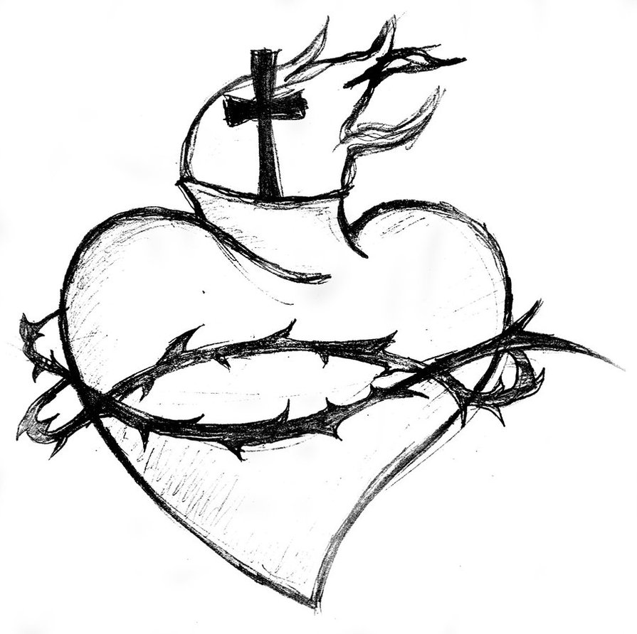 The gallery for --> Heart Tattoo Line Drawing