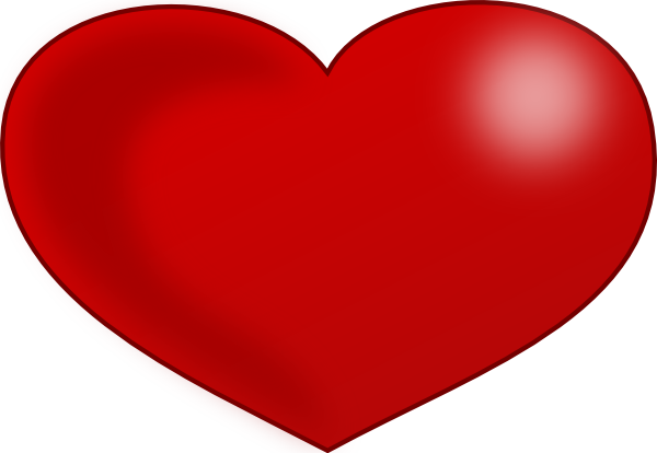 Red Glossy Valentine Heart clip art Free Vector - ClipArt Best ...
