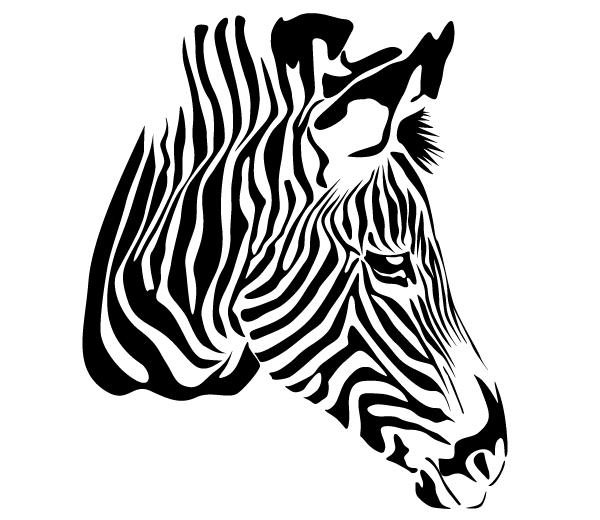 zebra head vector free