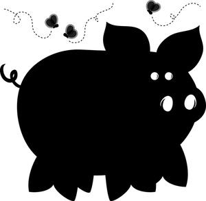 Black Pig Silhouette - ClipArt Best