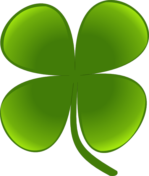 Shamrock For March clip art Free Vector