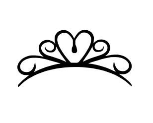 Princess crown silhouette clip art - photo#26