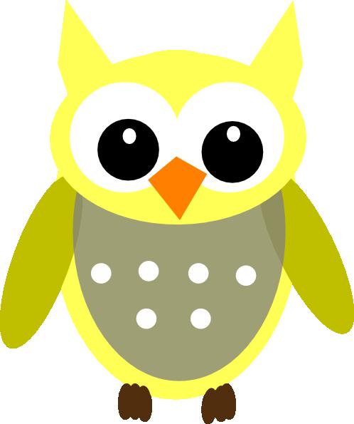 Cute Clip Art Wallpaper Cute Yellow Gray Owl Clip Art