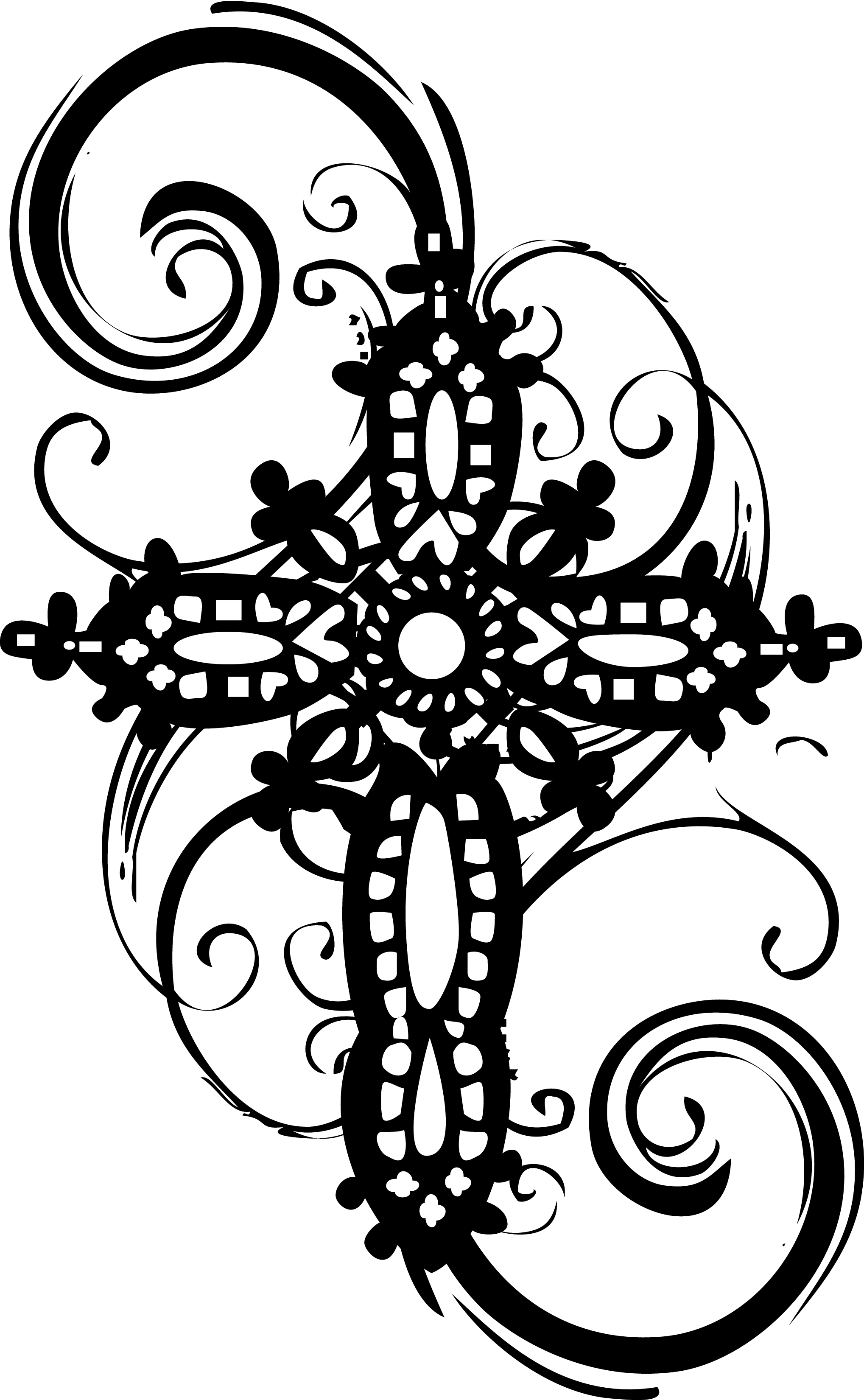 Line Art Cross : Line art cross clipart best