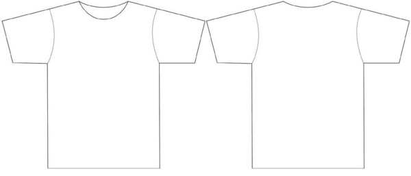 Front And Back T Shirt Outline - ClipArt Best