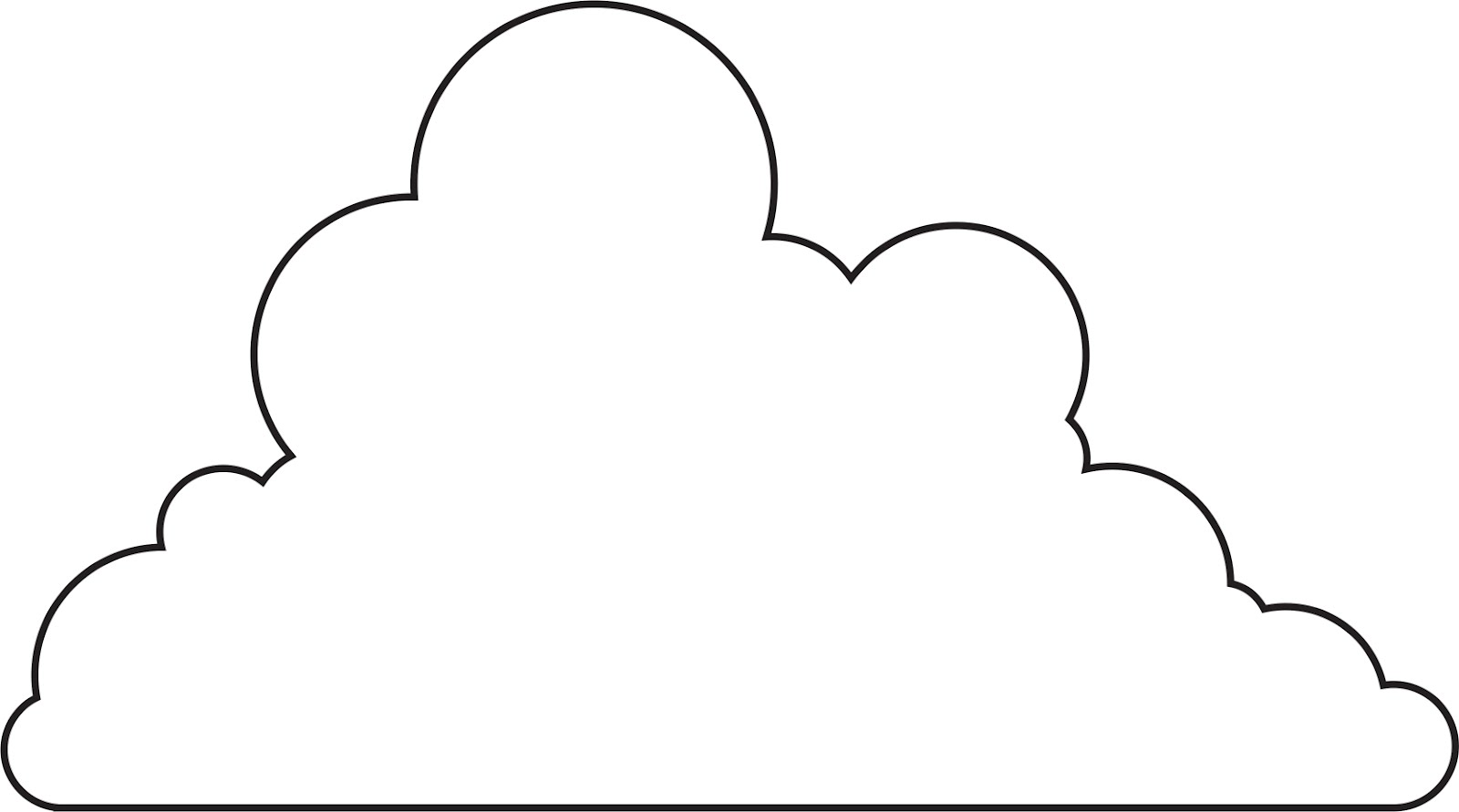 Versatile image for printable cloud template