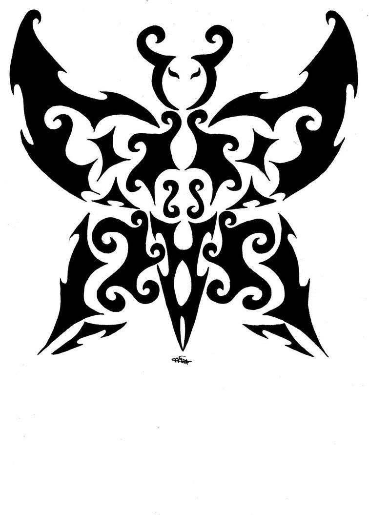 tribal butterfly drawings - 756×1055