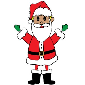 Santa Clipart Image - DoodleKidz Stick Boy Dressed Up Like ...
