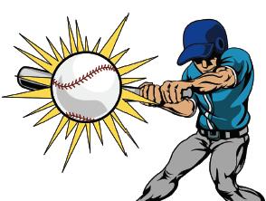 Baseball Bat Hitting Baseball Clipart Best