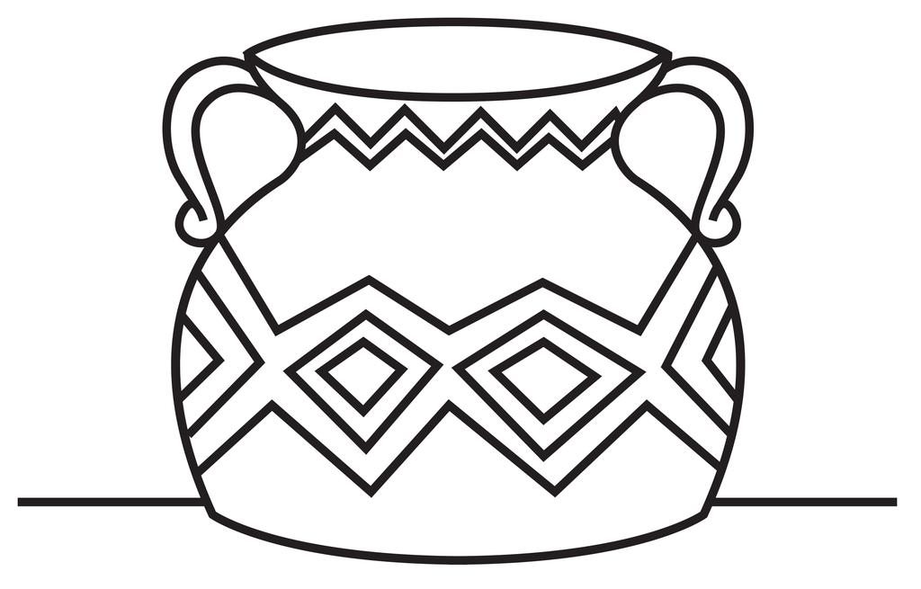 Line Drawing Vase : Vase line drawing clipart best