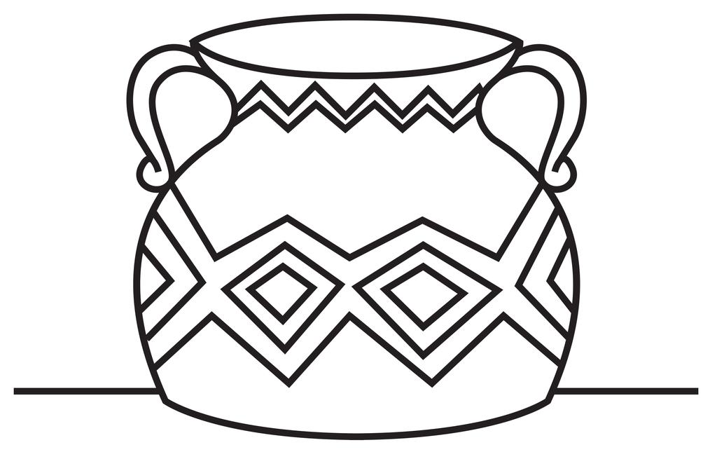 Line Art Design Illustration : Vase line drawing clipart best