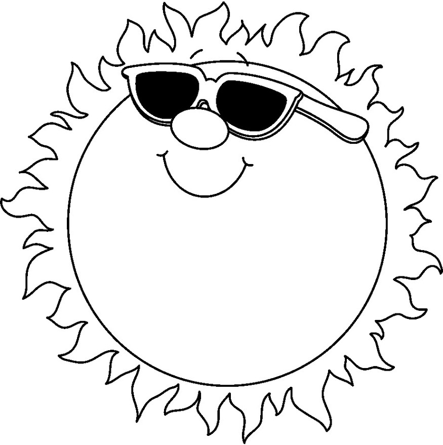 Sunshine Clipart Black And White - ClipArt Best