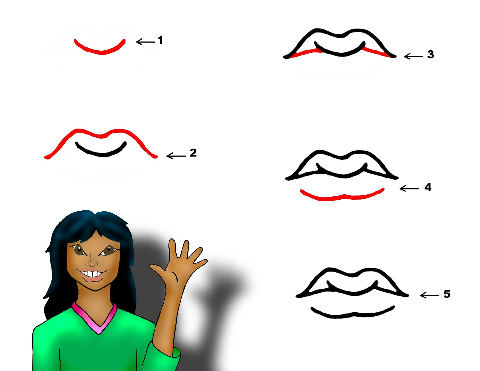 Draw Lips - ClipArt Best