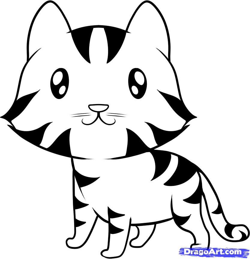 Tiger Line Drawing Easy : Cartoon tiger pictures easy to draw clipart best