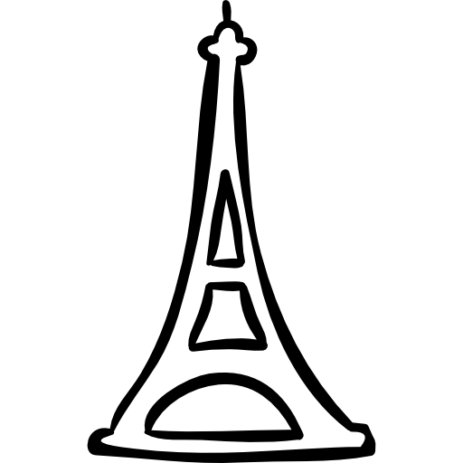 Eiffel tower hand drawn outline - Free travel icons