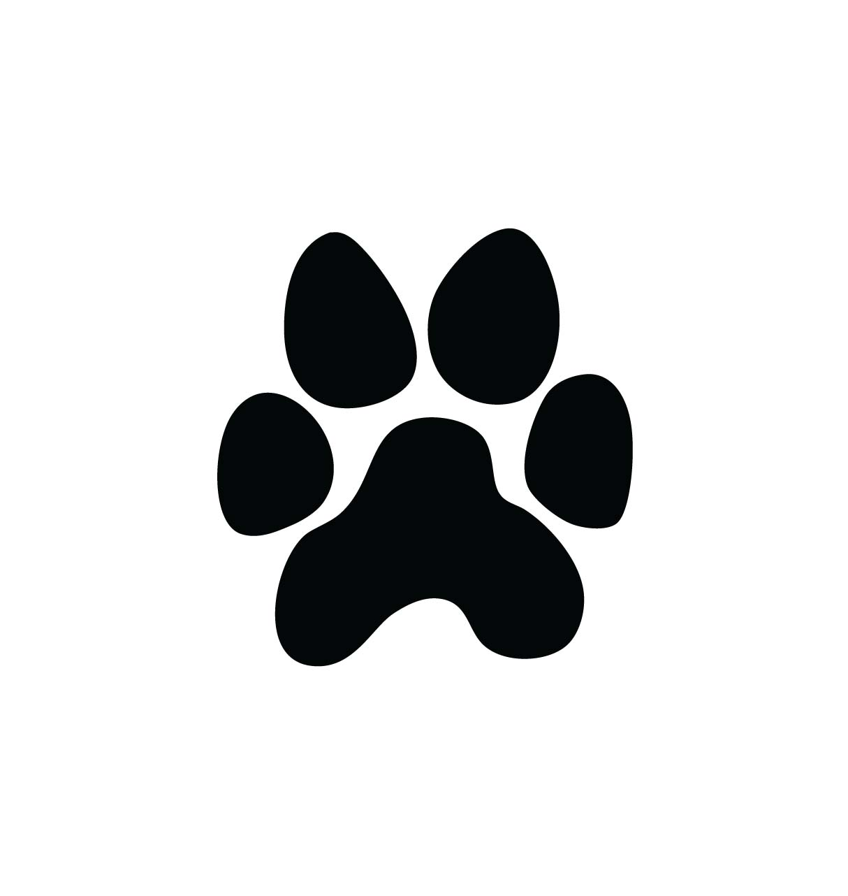 Panther paw print clipart