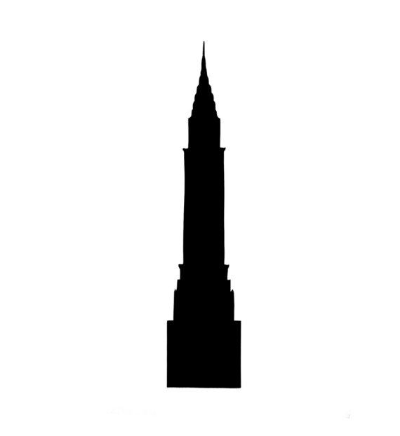Chrysler Building Silhouette - ClipArt Best