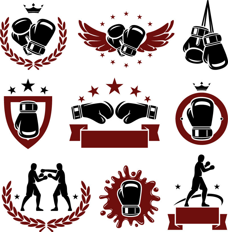 Vector Boxing Gloves Stock Illustration - Download Image ...  |Boxing Gloves Vector Clipart