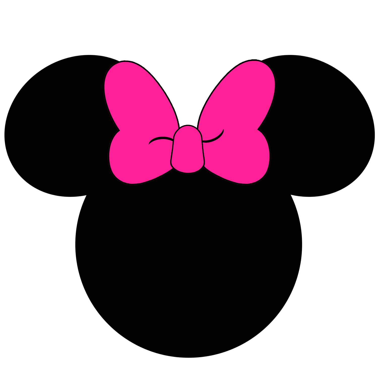 minnie mouse with pink bow clipart best