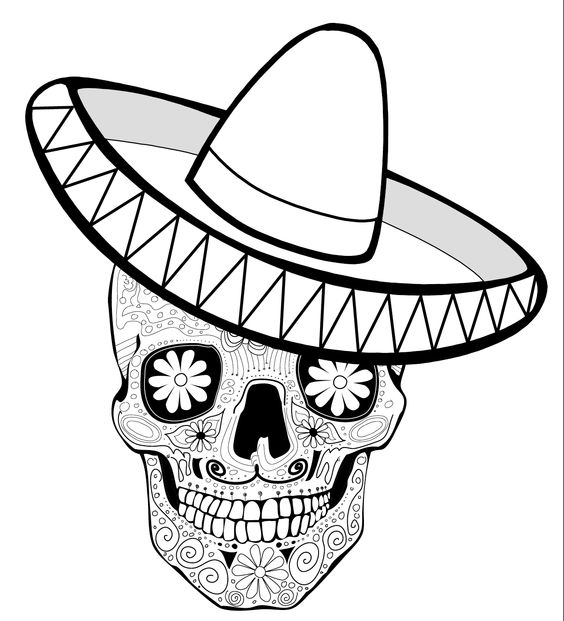free sombrero coloring pages - photo#29