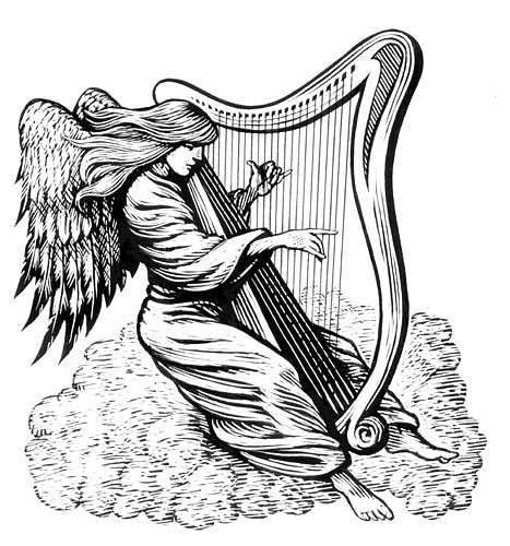 Angel Playing Harp - ClipArt Best