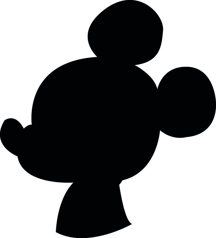 Monster image with regard to mickey mouse silhouette printable