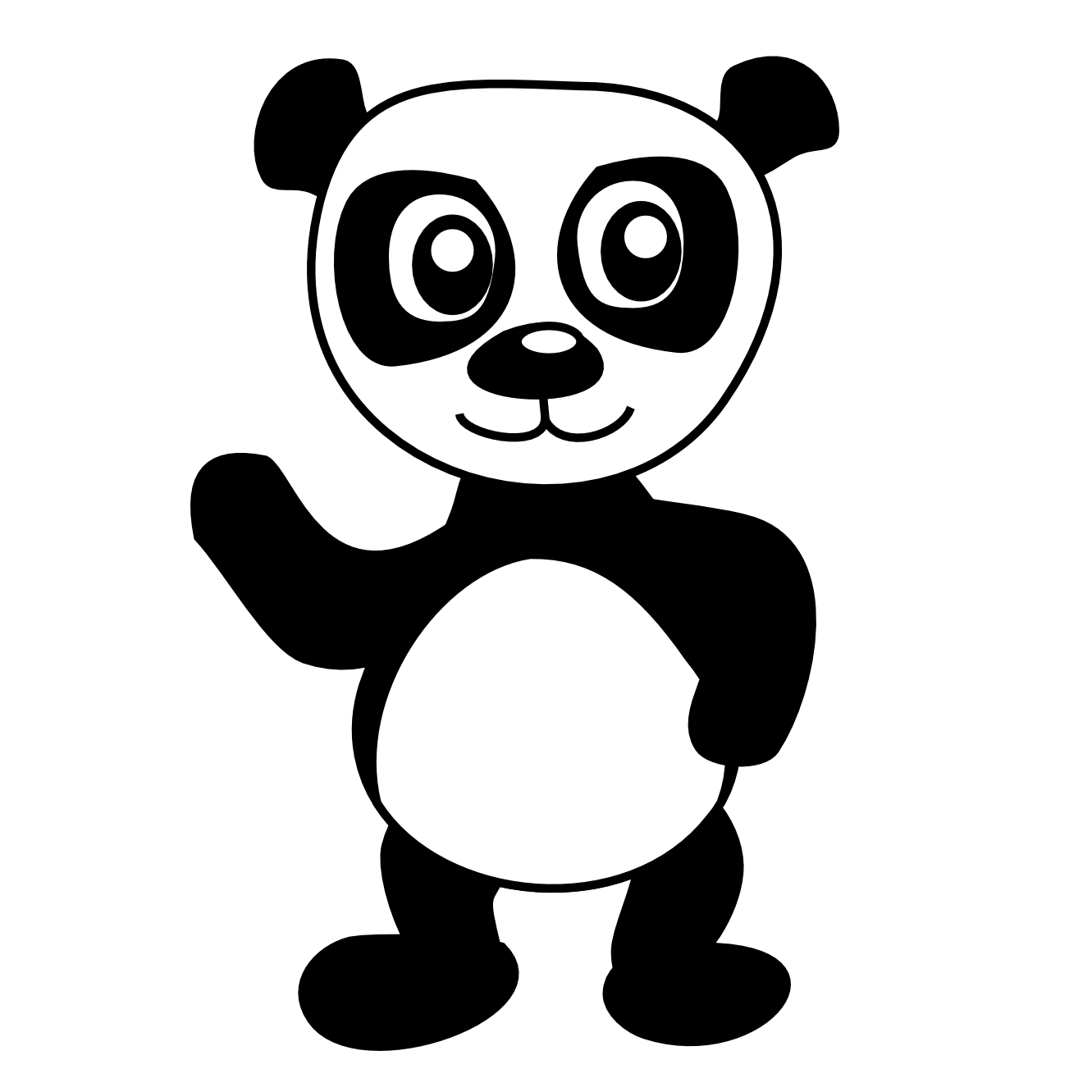 Panda Bear Coloring Pages Clipart Best