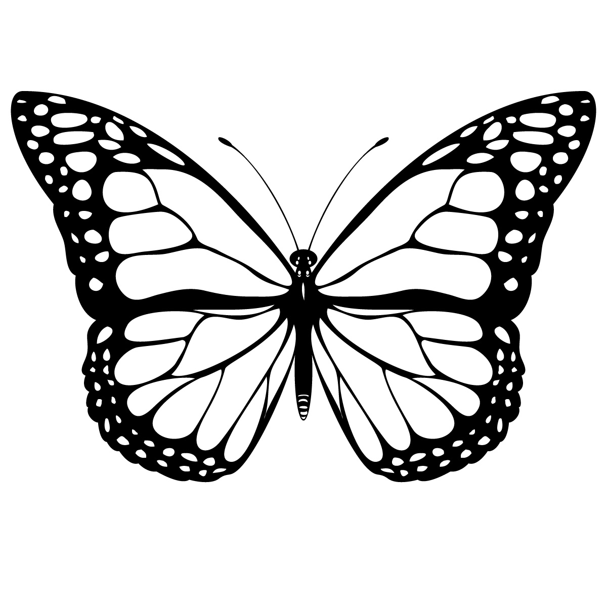 shape butterfly coloring pages - photo#14