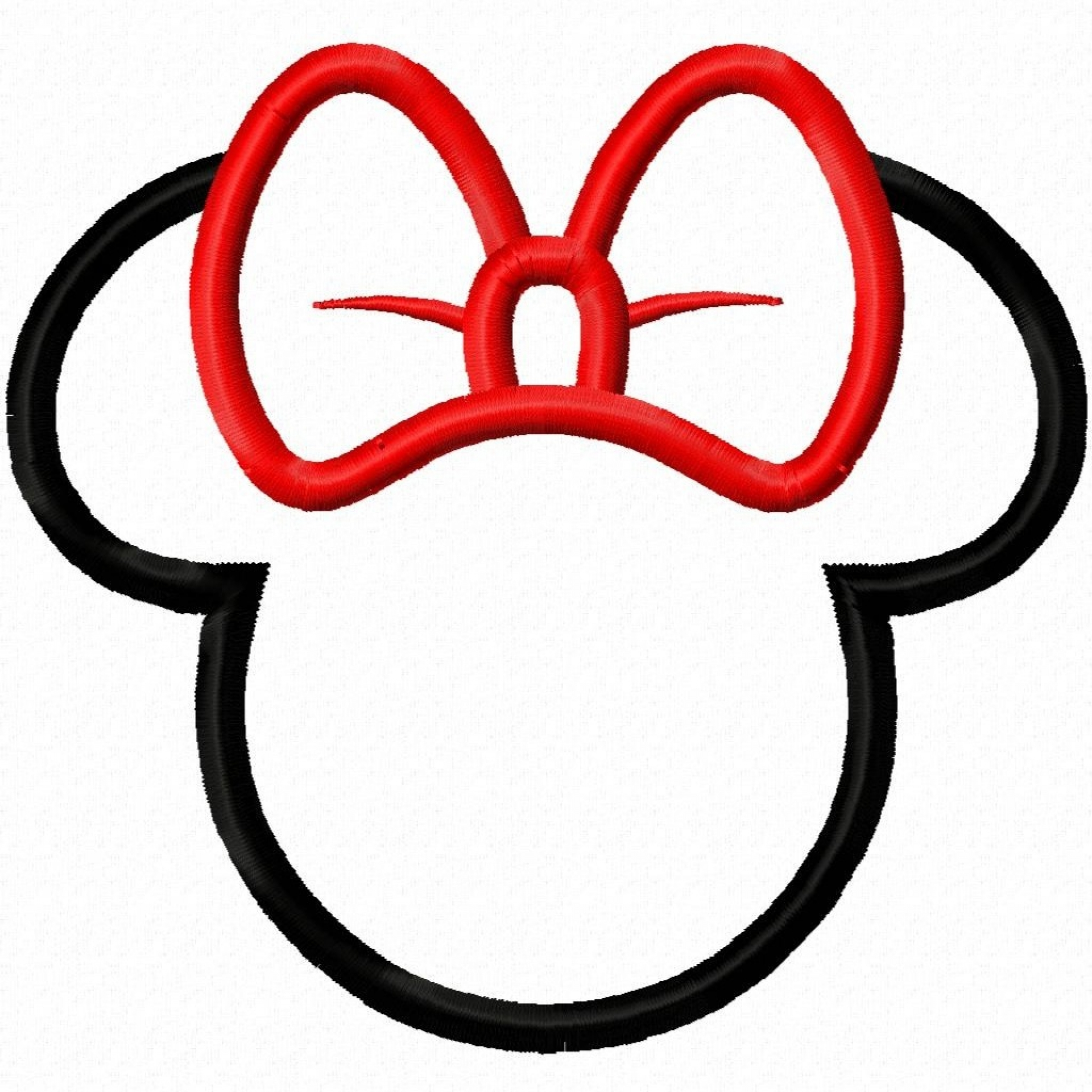 minnie mouse ear template - 2854 views