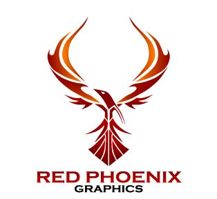 Red Phoenix Graphics Logo | Phoenix Designs | Pinterest
