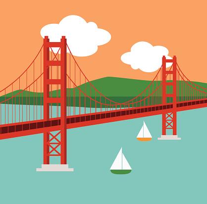 Clip Art Golden Gate Bridge Clipart golden gate bridge clipart best clip art vector images illustrations