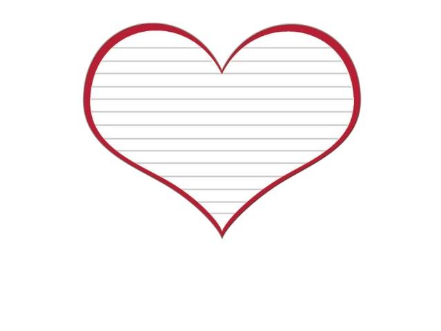 Red Heart Template Clipart Best