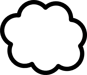 Cloud clip art black and white free clipart 2