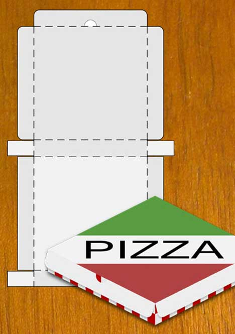 Pizza Box Design Template (