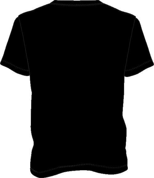 Black t shirt back the image kid has it for Black t shirt back