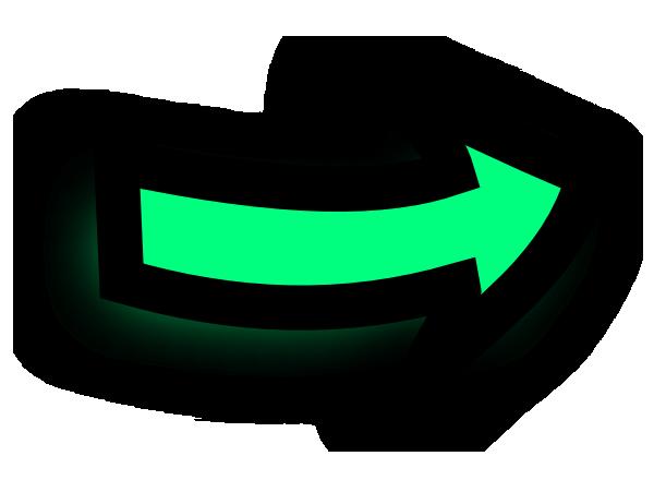 Right Arrow Comic Green Oo clip art - vector clip art online ...