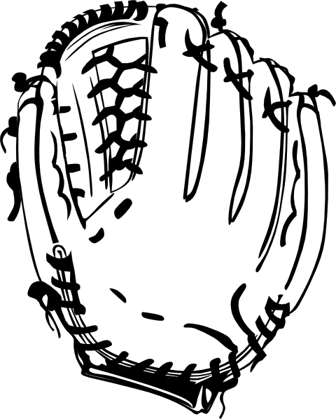 Baseball Glove (b And W) clip art Free Vector