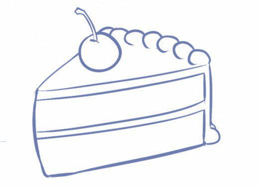Easy Cake Drawings - ClipArt Best