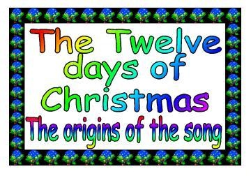 Twelve Days Of Christmas Clipart | Free Download Clip Art | Free ...